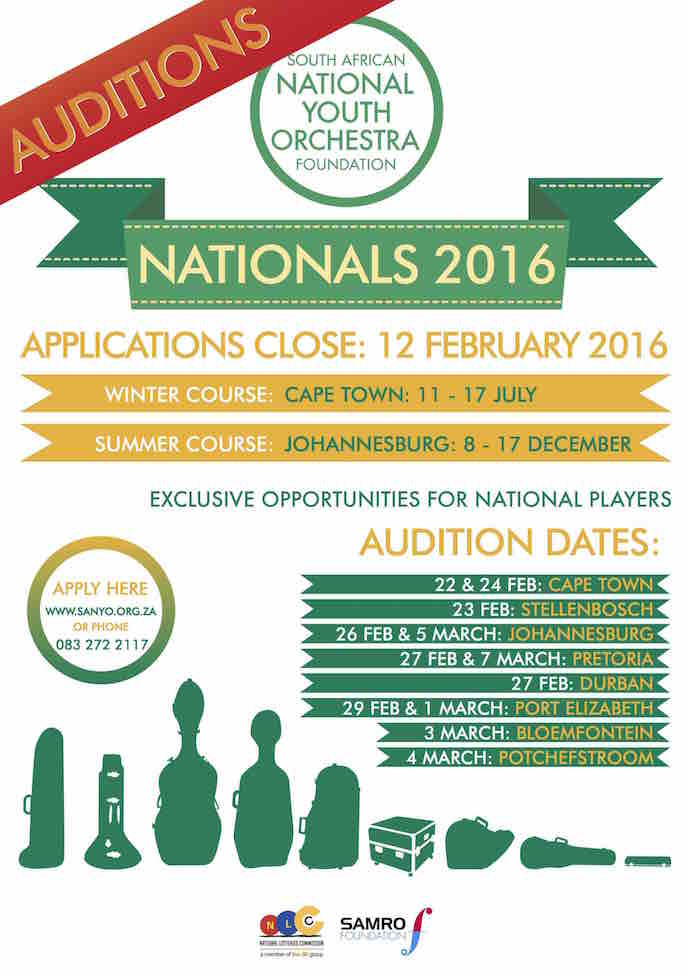 Poster - Auditions Applications - 2016